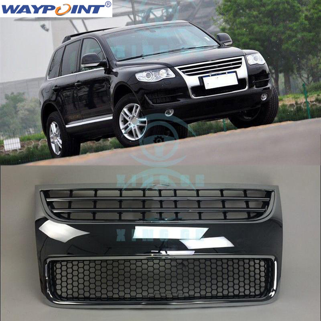 For Volkswagen Vw Touareg 2008 2010 Front Mesh Vent Bar Grill Grille Plate