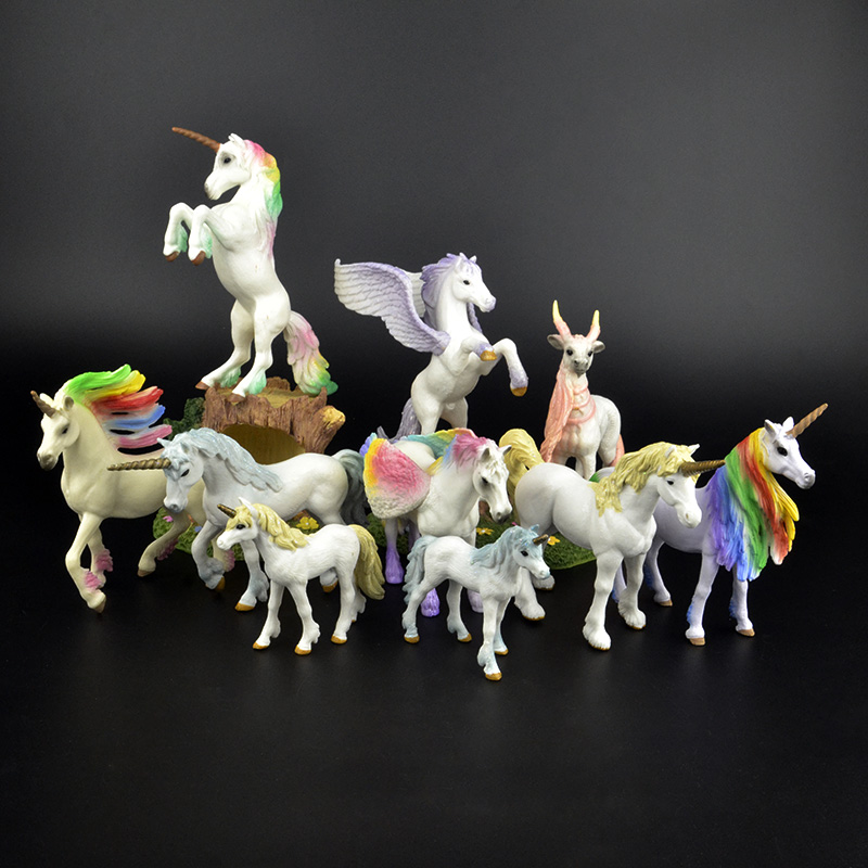 Original Genuine Fairy Tale Mythical Animal Flying Horse Figure Model Wild Figures Kids Educational Toys Figurine