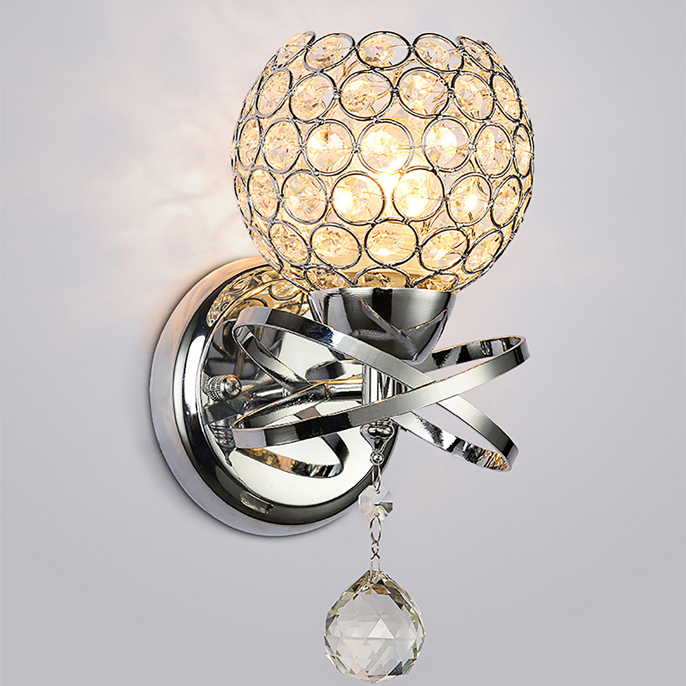 Modern Style Home lighting living room Wall Lamp Luxury Crystal Lampshade Pendant Wall Light Holder E14 SocketModern Style Home lighting living room Wall Lamp Luxury Crystal Lampshade Pendant Wall Light Holder E14 Socket