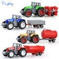 Coolplay 4 pçs/set carro engenharia Liga brinquedo modelo do veículo fazenda trator cinto menino modelo de carro de brinquedo das crianças Dia de Natal presentes N06
