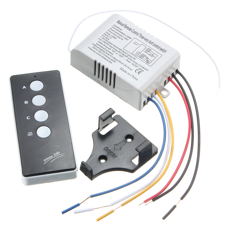 3 Way Port ON/OFF Wireless Digital RF Remote Control Switch Receiver Transmitter For Light Lamp 220V wireless remote control switch 1 2 3ways on off 220v digital distance control switch receiver transmitter for led lamp light