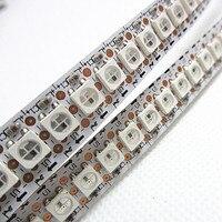 LED Transporte Rápido Por Atacado 1 M 5050 RGB 144 LEDs WS2812B Chip WS2811 Digital LED RGB Luz Tira 144 Pixels DC5V