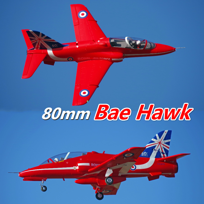 FMS 80mm Bae Hawk Red Arrow Ducted Fan EDF Jet 6S 6CH With Flaps Retracts EPO