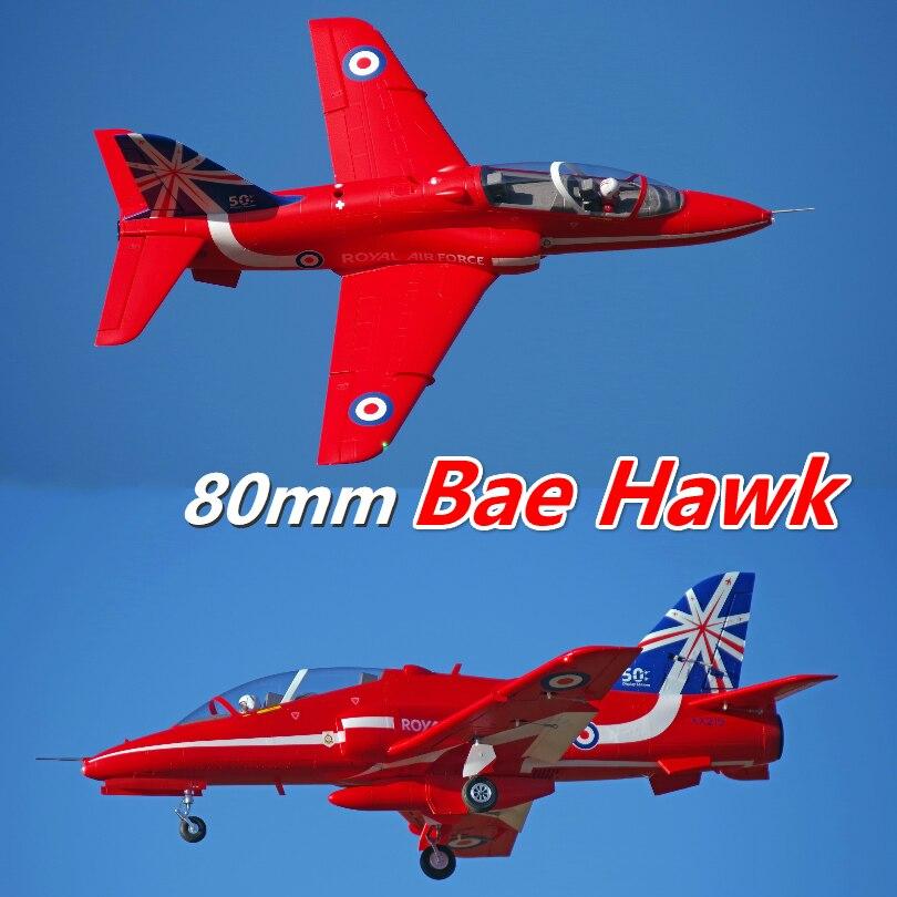 FMS 80 millimetri Bae Hawk Freccia Rossa Ducted Fan EDF Jet 6 S 6CH Con Alette Ritrae EPO PNP RC modello di aereo Hobby Aereo Aereo Avion-in Aerei radiocomandati da Giocattoli e hobby su  Gruppo 1