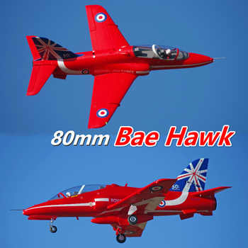 FMS 80mm Bae Hawk Red Arrow Ducted Fan EDF Jet 6S 6CH With Flaps Retracts EPO PNP RC Airplane Model Hobby Plane Aircraft Avion - DISCOUNT ITEM  10% OFF All Category
