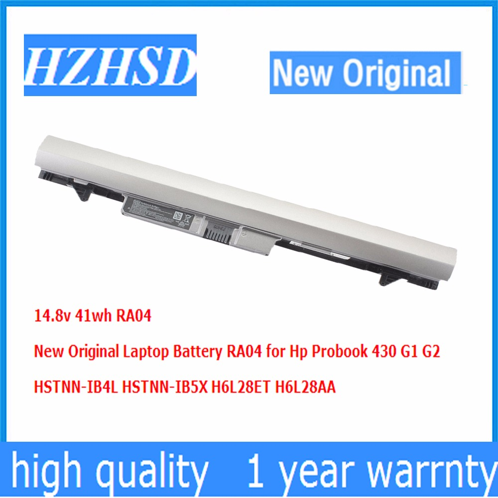14.8v 41wh RA04 New Original Laptop Battery RA04 for Hp Probook 430 G1 G2 HSTNN-IB4L HSTNN-IB5X H6L28ET H6L28AA new wooden montessori family version brown stair width 0 7 cm to 7 cm early childhood education preschool training baby gifts