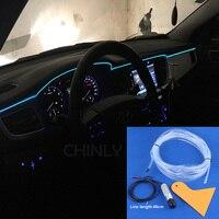 1m 3m 5M DC12V Side Glow Fiber Optic Light Kit For Car Decoration LED Neon Lights