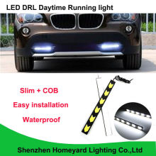2pcs led car light silm waterproof COB Daytime Runing Light DC12V 6000K DRL headlight fog lamp for all car(China)
