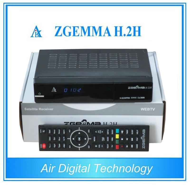 10 pcs/lot Satellite tv receiver HD ZGEMMA H.2H Combo DVB S2 + DVB T2/C with dual core CPU running серова м любовь с процентами