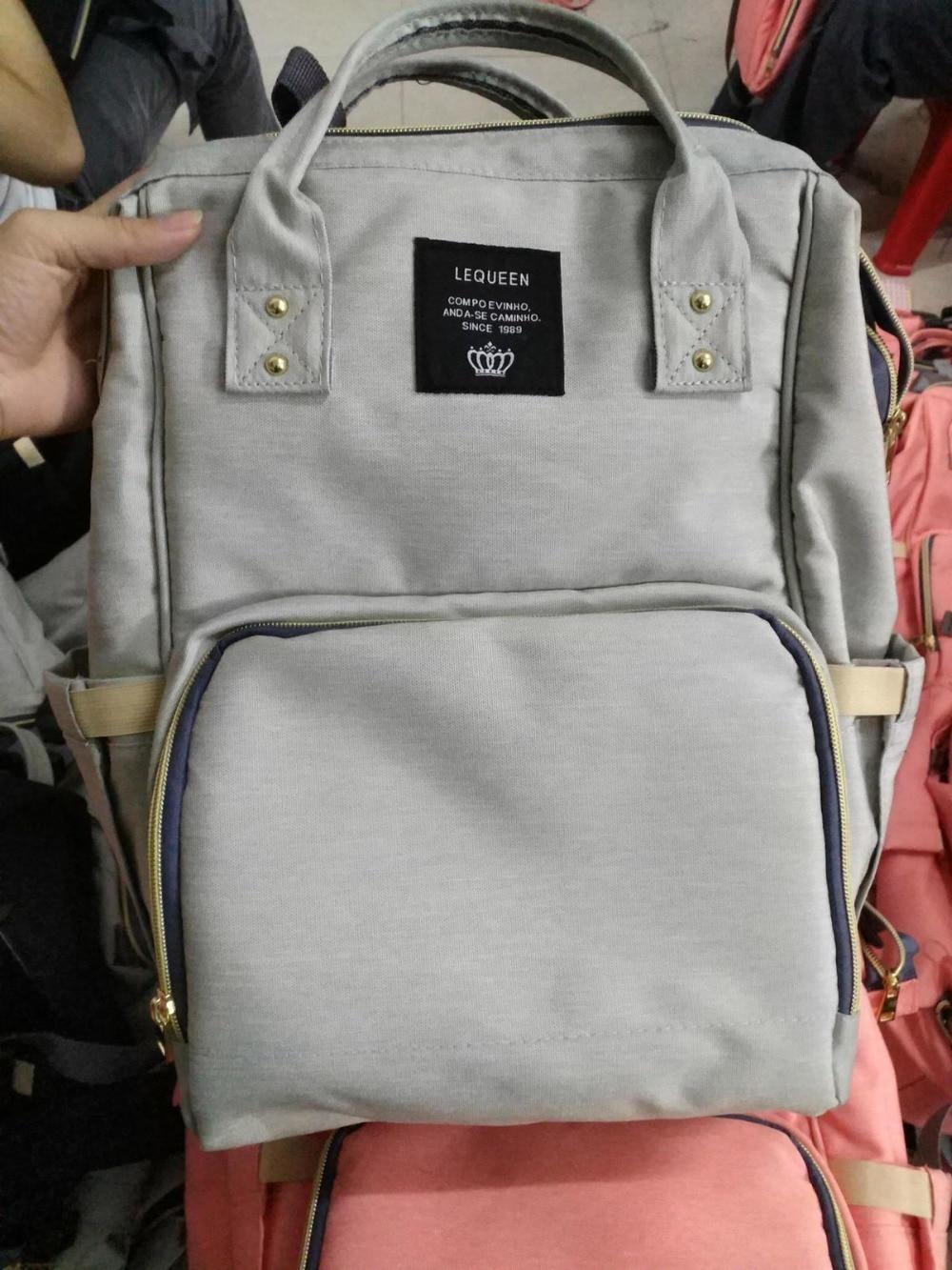 HTB14ct2bsvrK1Rjy0Feq6ATmVXaI Drop Shipping Lequeen Nursing Care Baby Bag Stripe Diaper Bag Nappy Bag Organizer Waterproof Maternity Bag