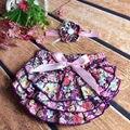 Vintage de las muchachas de la torta de smash floral bloomer de la colmena cubierta del pañal con encaje floral headband