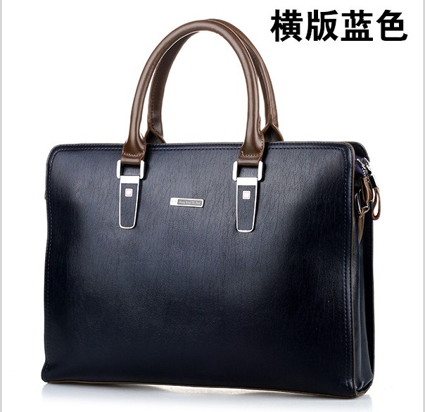 HK brand men's briefcases pu leather  blue color 15inch man briefcase  fashion dress top quality brand man handbags shoulder bag сумка givenchy fc150411 hk 15 pervert