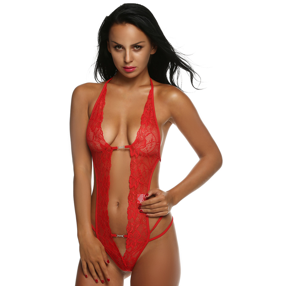 ccfb5b2c9 Sexy Lingerie Set Women 2018 One Piece Lace Babydoll Halter Sleepwear Sexy  Costumes Hot Erotic Porn Latex Lenceria Sexo XXL