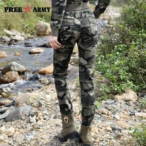 Image 4 - Yepyeni Bahar Ordu Kamuflaj Pantolon Kadın ince pantolon Bayanlar Askeri Pantolon Baskı Elastik Bel Moda Rahat Pantolon Kadın