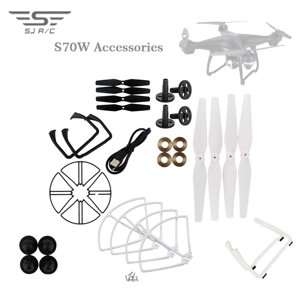 SJRC S70W Parts Upgraded Repair Parts Propellers Blades Landing Motor Bearing Replacement For RC Drone Quadcopter Helicopter image