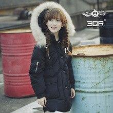 Дети пуховик частные долго cuhk в детской одежды хан издание зима тяжелые волосы утолщение воротник пальто