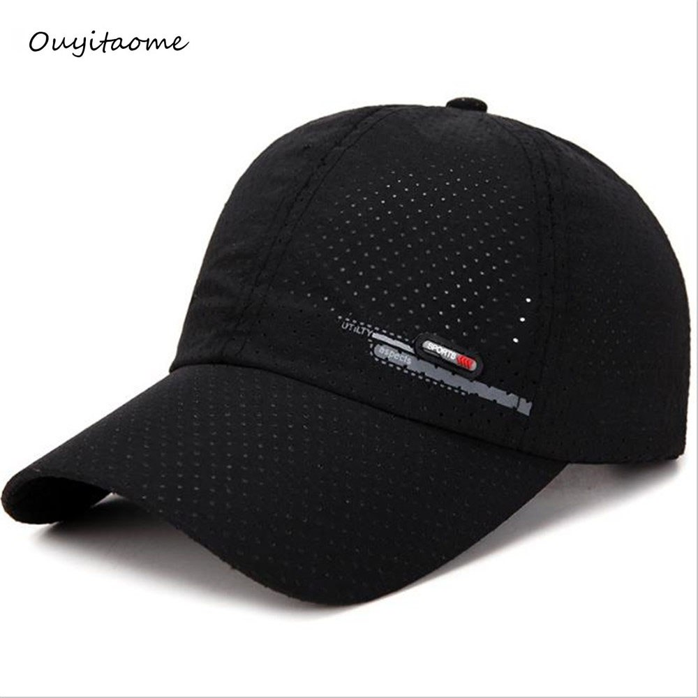 2019 Ouyitaomee Summer New Breathable Perforation Quick-drying   Cap   Men's Fishing Sunscreen   Baseball     Cap   Riding Travel Sports   Cap