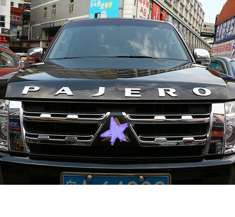 Pour Mitsubishi Pajero V73 V93 V97 voiture 3D lettre capot emblème Logo Badge voiture autocollants style voiture accessoires