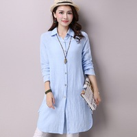 2016 New Spring Autumn Women S Long Shirts Cotton Linen Maternity Cardigan Pregnancy Blouse Clothing Maternity