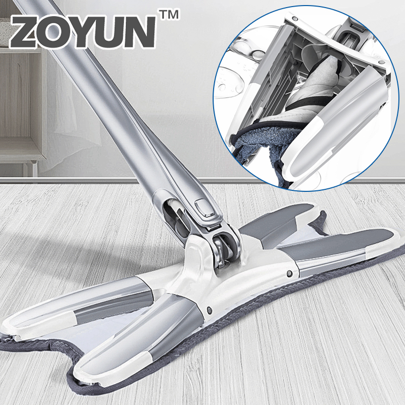 360 Cleaning Easy Rotating Mop For Washing Floor Magic Microfiber Cloth Flat Smart Handle Dust Mop Pads Twist Head With Spin