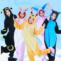 Unicorn Stitch Umbreon Lemur Tiger Fox Unisex Bluza Z Kapturem Z Polaru Piżamy Cosplay Costume Zwierząt Onesies Piżamy Dla Kobiet Mężczyzn Dorosłych