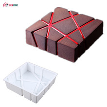 SHENHONG JiuGong Art Cake Mould Pan 3D Non-stick Silicone Mold Mousse Silikonowe For Chocolat Muffin Brownie Baking Pastry Moule