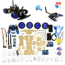 Adeept Robotics Model Arduino Smart Car kit Electronics DIY Ultrasonic Toys 2 4G Freeshipping headphones diy
