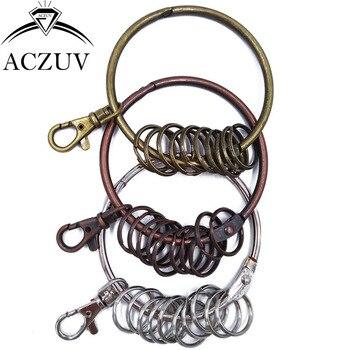 20pcs Keychain Big 80mm Key Ring Accessories 25mm Small Ring & 38mm Swivel Lobster Clasp BKR004