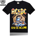 2015 New style Hot sell 100% cotton Ac Dc Brand Black Men T-shirt Metal Rock Band Printing S-3XLL Wholesale