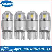 Aslent 4pcs T10 W5W 194 LED 3030SMD Car Light Bulbs Auto Lamp Door light Turn Reading Lights Ice blue white red yellow 12v