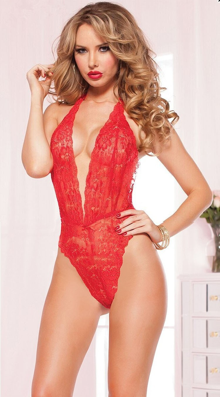 Baby Doll Sexy Lingerie  Red Black Lace Fantasia Sexy Erotic Dress Underwear Women Porno Lingerie Lenceria Sexy Costumes