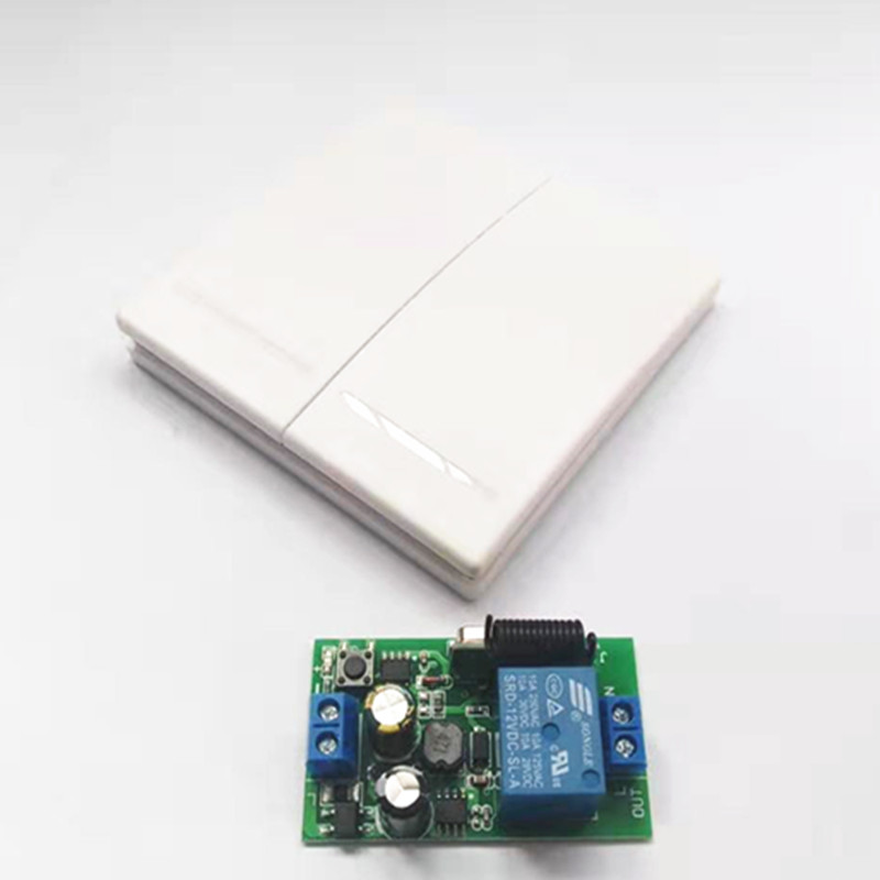 433mhz 220v 1ch Wireless Remote Control Switches Relay Receiver Module & 2ch Remote Controls Wall Panel Rf Transmitter