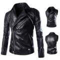 Good quality Men's Slim Motorcycle jackets New Fashion Male Streetwear Leather & Suede Outwear Coats Jaqueta Leather clothing