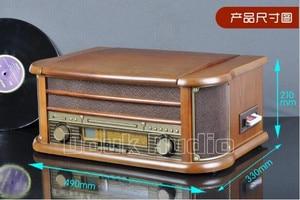 Image 4 - Nobsound Hi end Stereo Turntable LP Vinyl Record Player Tape&CD&U disk&AM/FM Radio&AUX&USB Audio 220V