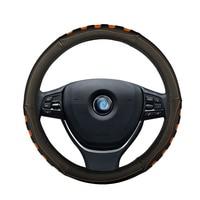 Car steering wheel cover leather non slip for nissan almera n16 g15 classic altima juke kicks murano z51 navara d40 note