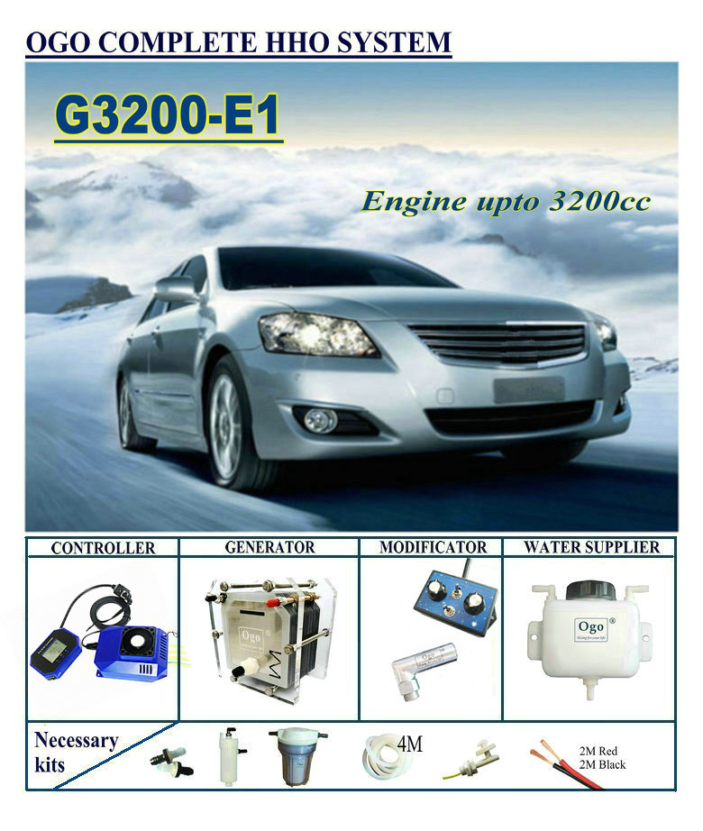 OGO Complete HHO System G3200-E1 Smart PWM MAP/MAF UPTO 3200CC Universal Cars