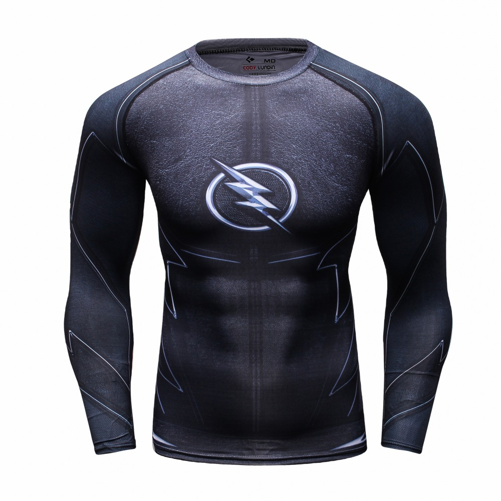 Captain america 3d printed t shirts men long sleeve t for Compressed promotional t shirts