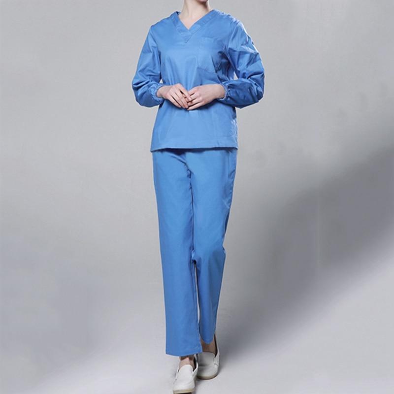 Hot Sale Summer Women Hospital Medical Scrub Clothes Set Men Surgical Gown Nurse Uniform Nurse Work Wear