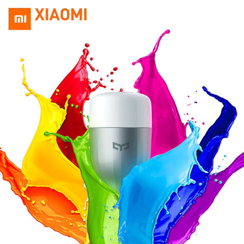 Xiaomi Smart Domotique Mijia Yeelight Intelligent LED Ampoule WIFI Lumière 8 W Blanc/Coloré Lampe domotica domotique