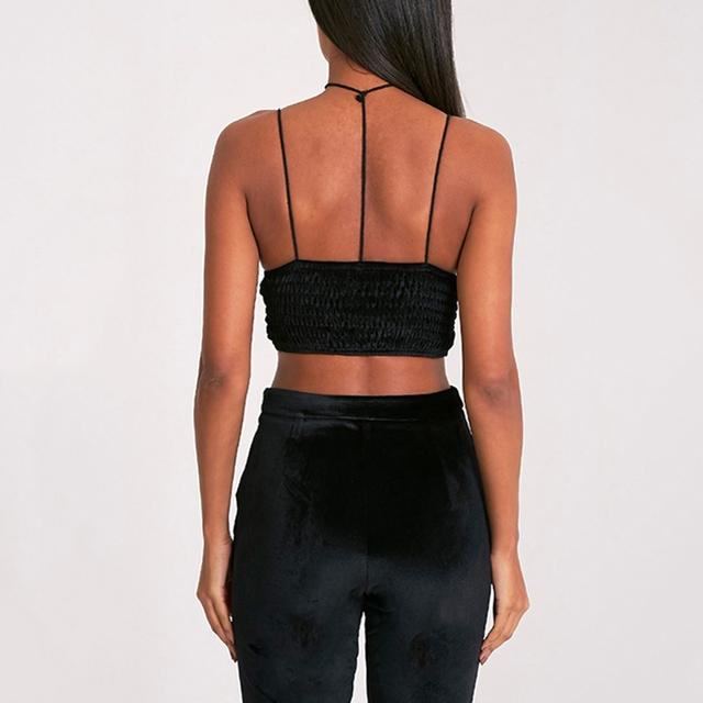 Missomo 2017 New Fashion Women Black Sexy Push Up Lace Spaghetti Strap Bralettes Pleating Wireless Underwear Soft Full-Cup Bras
