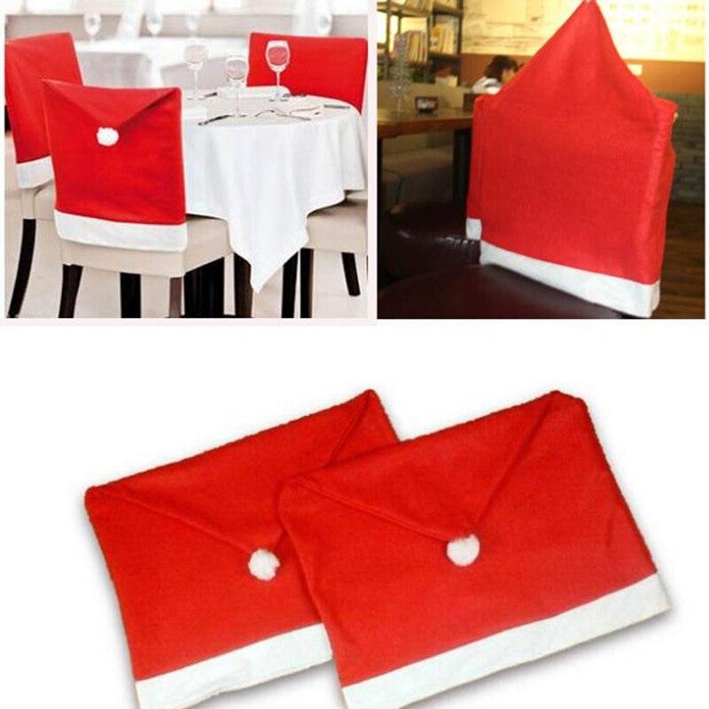 Luyue 1 шт. Новая мода Санта Клаус Red Hat стул задняя крышка Рождество разлили вечерние декор для Рождество дети подарок