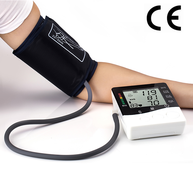 Household Health Care Automatic Digital Arm Blood Pressure Monitor Meter Blood Pressure Measurement Monitor Sphygmomanometer