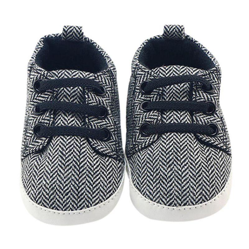 Для маленьких мальчиков первые прогулки парусиновая обувь 0-18 м для маленьких мальчиков мягкая подошва Обувь для малышей Обувь для младенце...