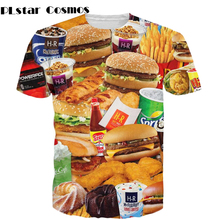 b50ad783 PLstar Cosmos 3d all-over print Fast Food T-shirt burgers fries chicken  nuggets