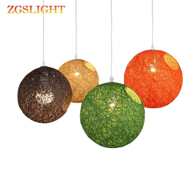 Wicker Vintage Pendant Light E27 Bulb Dining Room Sitting Room Industrial Nordic Classical Indoor Lighting Pendant Lamp