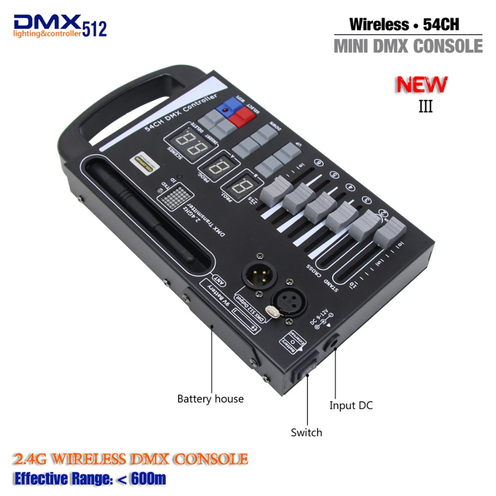 Handheld MINI DMX Wireless Controller For Home KTV DJ Stage Light Can Use 9V Battery Move Stage Lighting Console