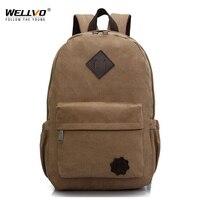 2015 Vintage Men Canvas Backpack Fashion School Satchel Bags Casual Outdoor Travel Rucksack Shoulder Bags Bolsas