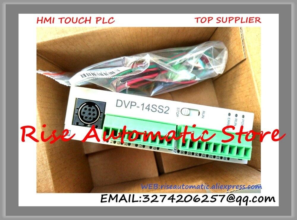 New Original Programmable Controller Module DVP14SS211R PLC DI 8 DO 6 Relay 24VDC plc programmable logic controller module and 3 5 inch hmi learning plan hmi plc