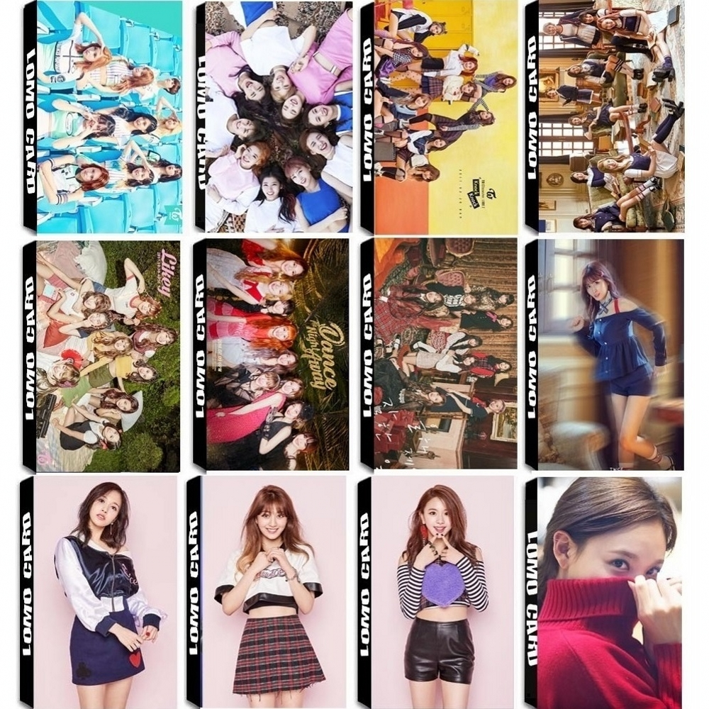 30Pcs/Set KPOP TWICE Girls Team 7 Album Collection SUMMER NIGHTS SIGNAL HD Photo Card PVC Cards Self Made LOMO Card Photocard