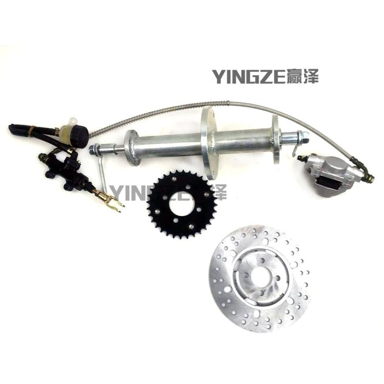 US $60 0 |DIY GO KART KARTING ATV UTV Buggy Rear Wheel Hub Axle Shaft With  Brake Disc Rotor Sprocket Pump-in Go Kart Parts & Accessories from
